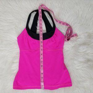 lululemon athletica Tops - Lululemon Scoop Me Up Tank II Pink Black Size 4
